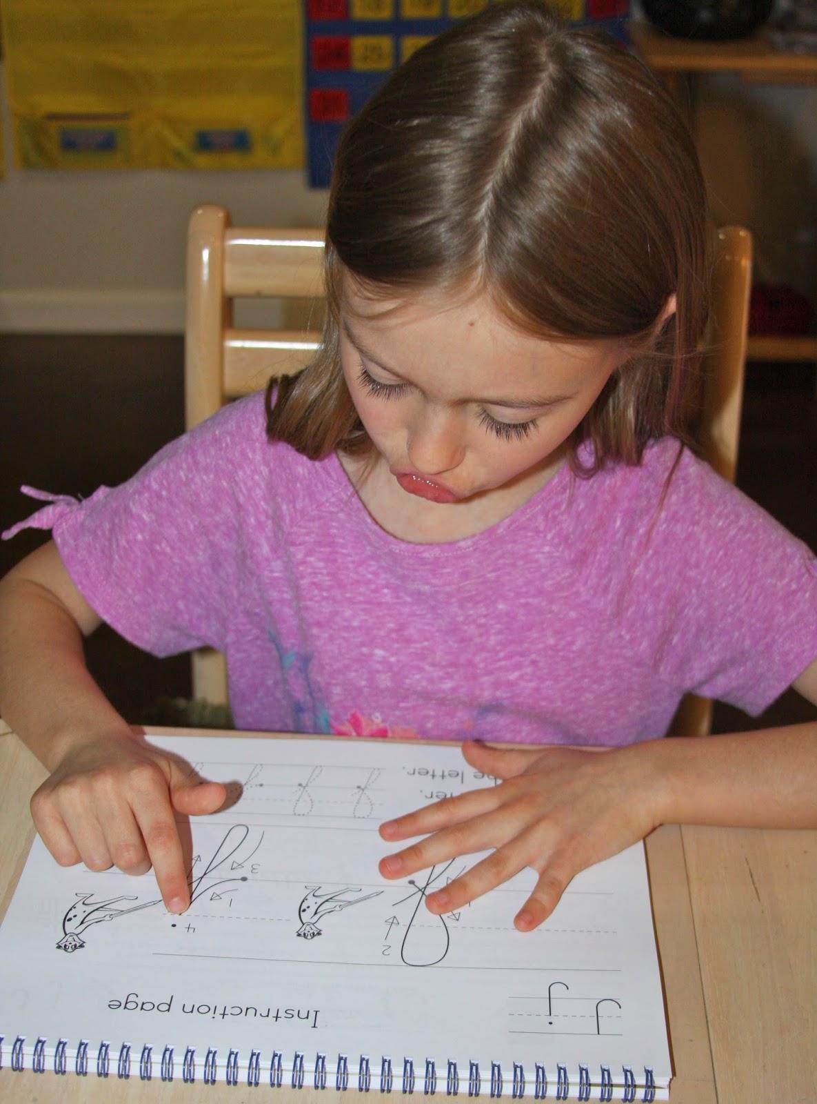 Cursive handwriting homework