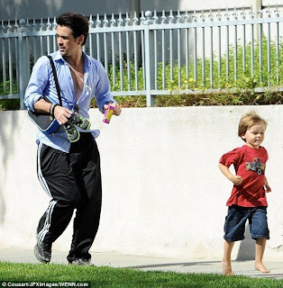 Colin Farrell and his son (WENN)