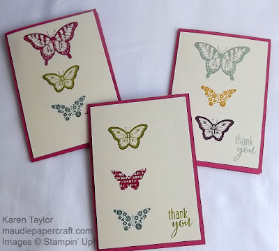 Stampin' Up! Thank You cards, Papillon Potpourri