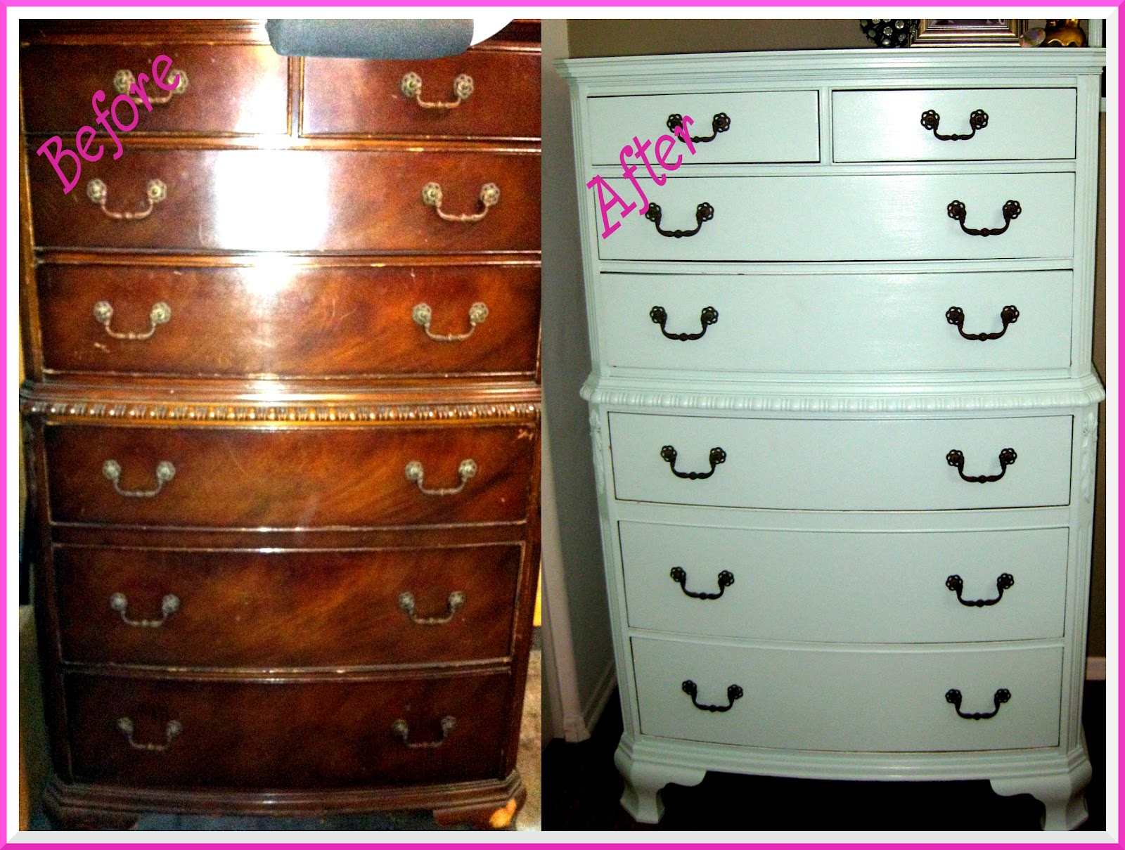 The Sugar Spice Mommy Dresser Makeover Befor After
