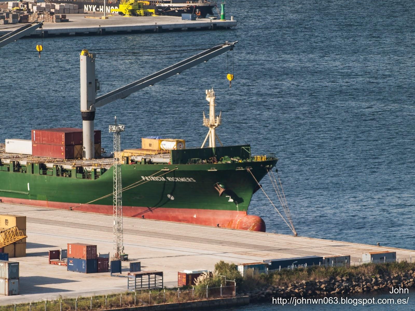 fotos de barcos, imagenes de barcos, portacontenedores, patricia rickmers, rickmers group, vigo