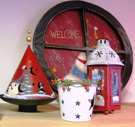 Farolillo y adornos navideños