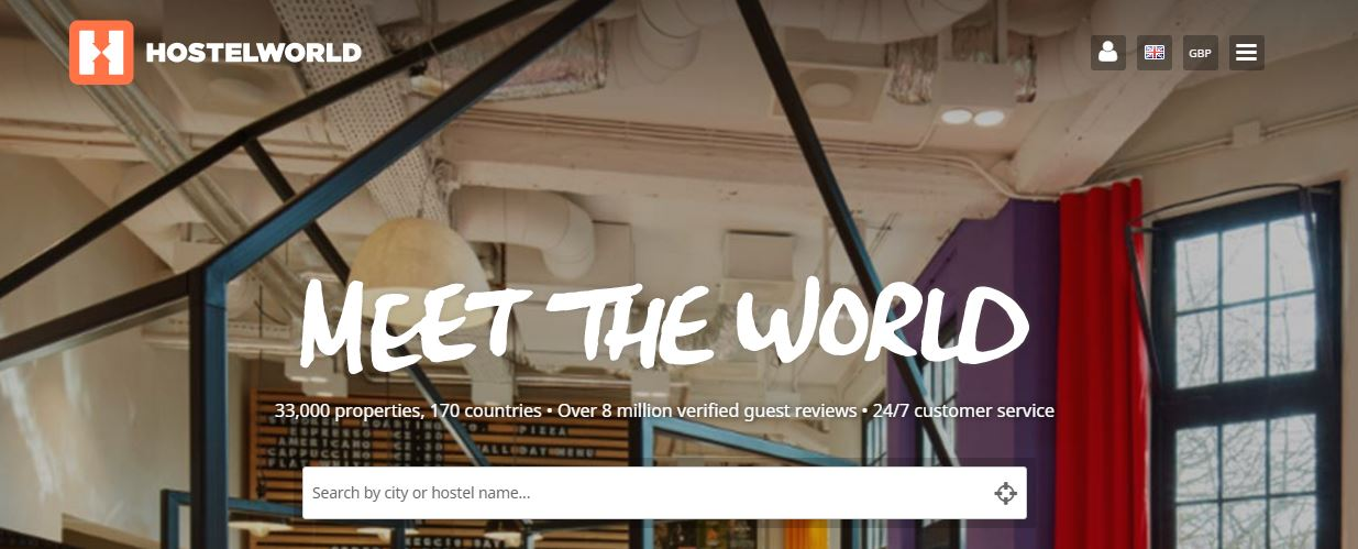 Hostel World Booking Website