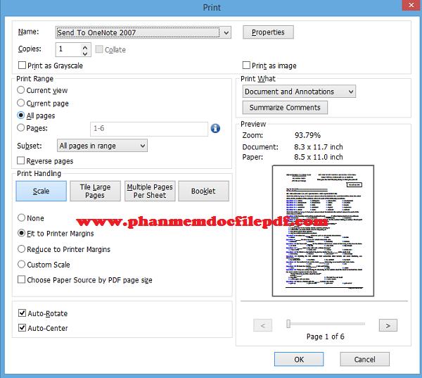 Hướng dẫn in file PDF với Foxit Reader