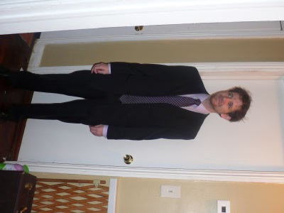 me in a Pierre Cardin suit, ready for some crazy job event