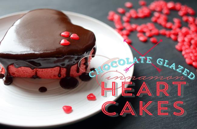 Pixel Whisk: Chocolate Glazed Cinnamon Heart Cakes
