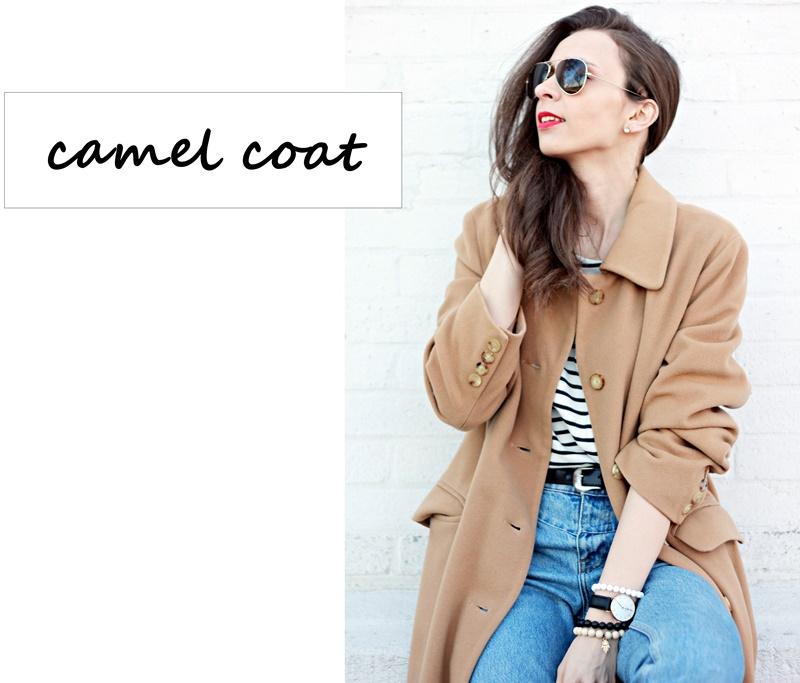 Fantastyczny Just Her Fashion: Długi, wełniany, karmelowy płaszcz | Stylizacja  MW-89
