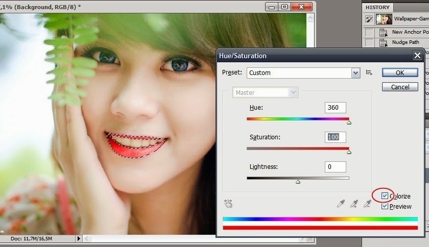 Cara Edit Memerahkan Bibir Menggunakan Photoshop