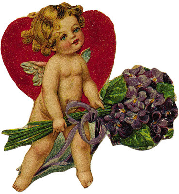 cherub with heart vintage ephemera from Dover