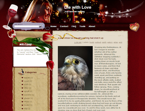 Die with Love Blogger Theme