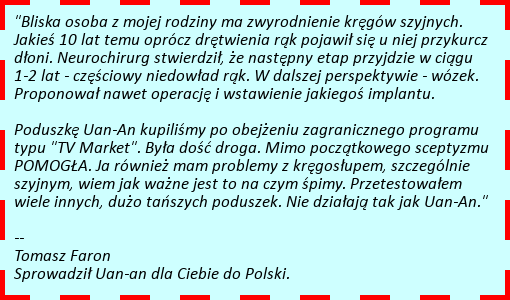 poduszka Uan-An - opinia osoby