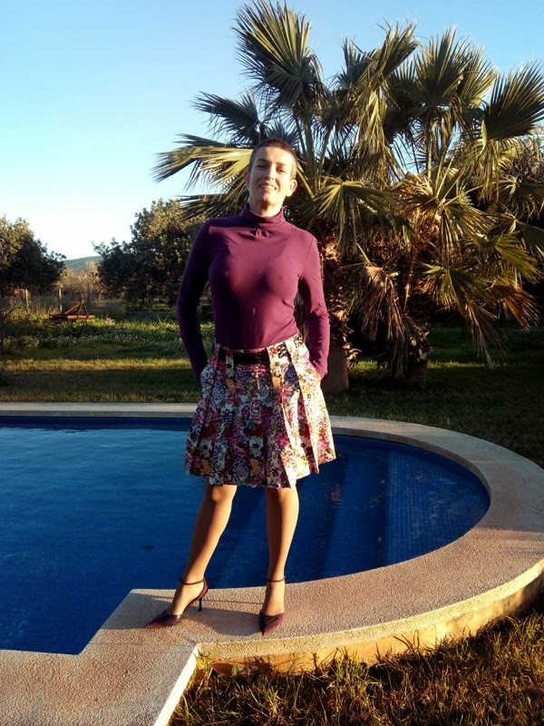 Stepalica Patterns: Zlata skirt - testing the pattern, Maria