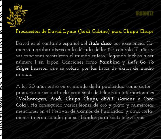 Producción de David Lyme para campaña publicitaria de Chupa chups