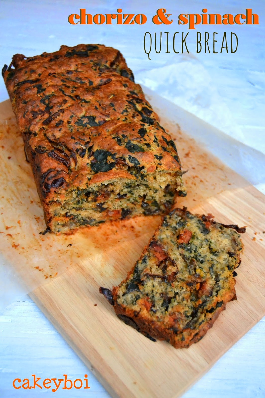 spinach and chorizo quick bread