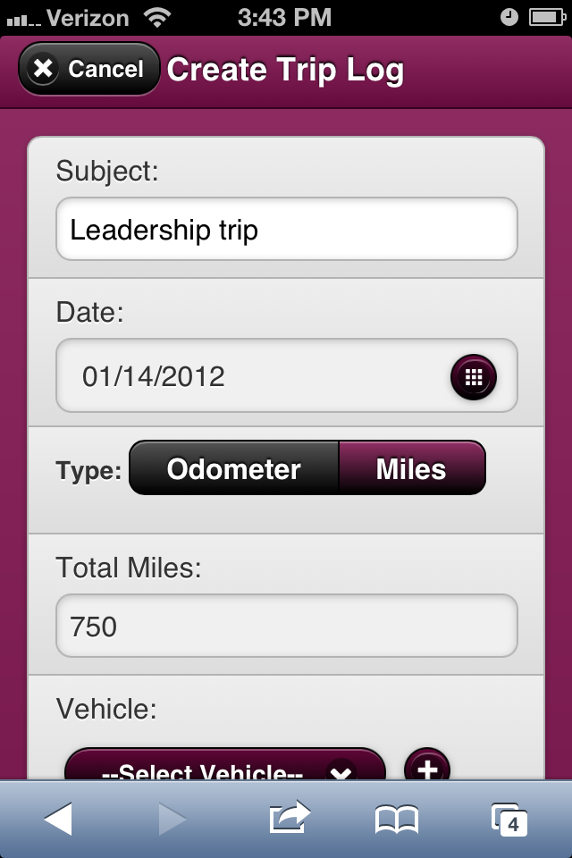 record your trip logs with unitwise unitwise business management