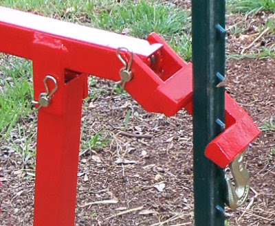 positioning the t-post puller