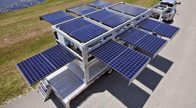 Self-Sufficient solar PowerCube generate electrical