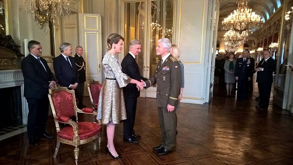 Queen Mathilde and King Philippe attended the new year reception held for representatives of SHAPE and NATO