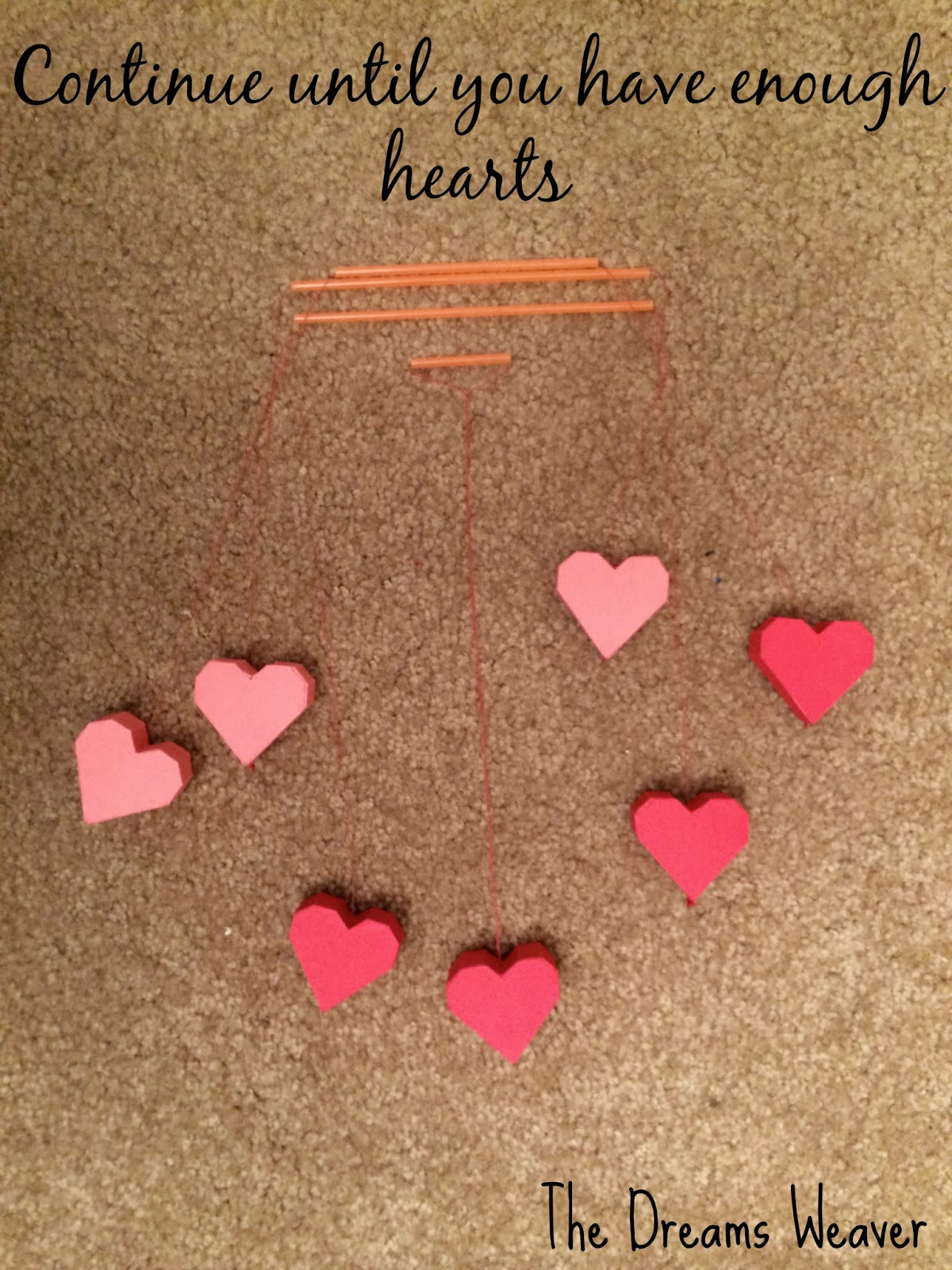 Valentine's Day Heart Mobile~ The Dreams Weaver