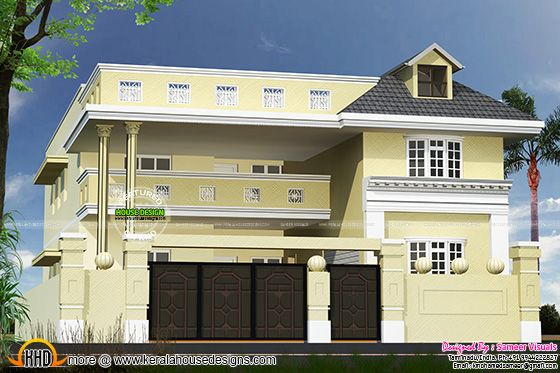 August 2015 kerala home design and floor plans for Tamilnadu house designs photos