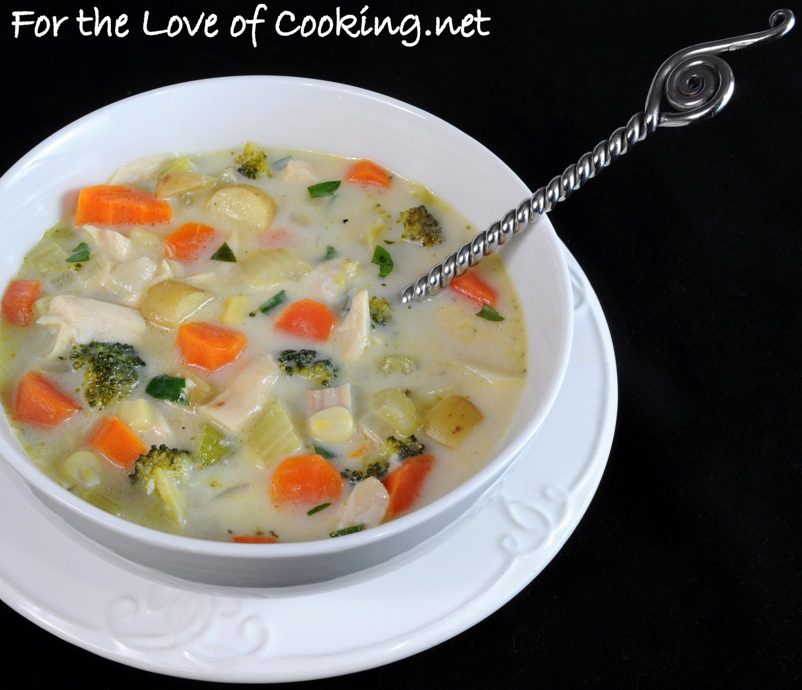 Creamy Chicken Potato And Veggie Soup For The Love Of Cooking