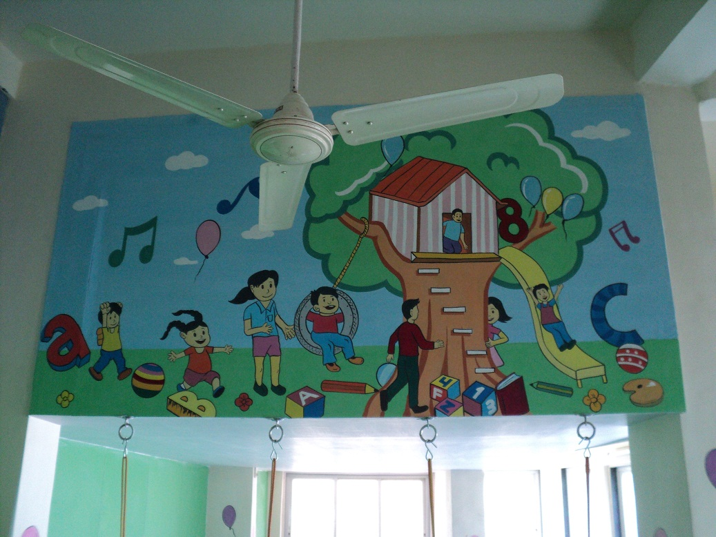 Day care classroom wall murals goregaon andheri malad for Classroom mural