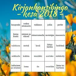 Kesän Kirjankansibingo