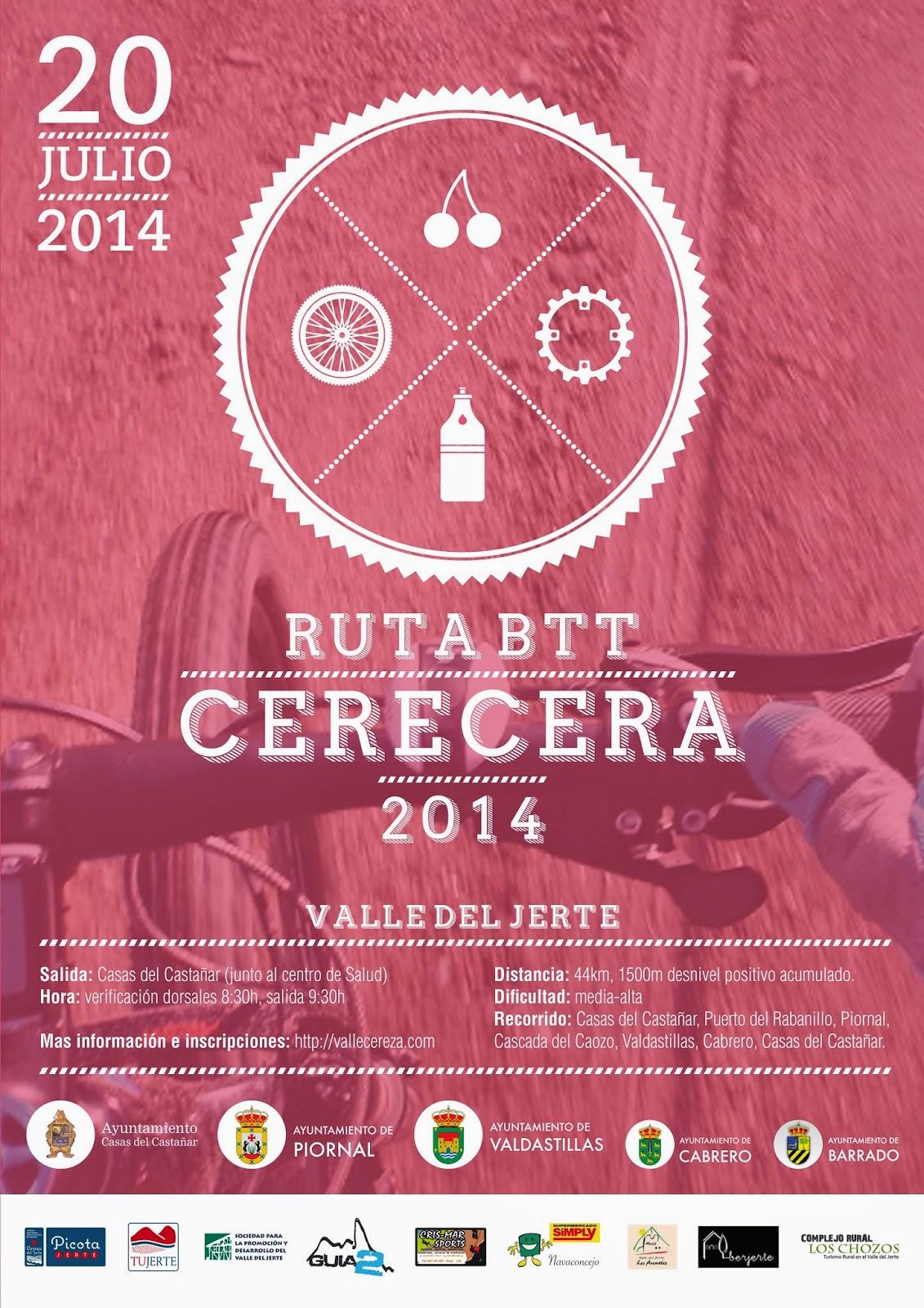 "RUTA BTT ""Entre Cerezos"" Cerecera 2014, Valle del Jerte"