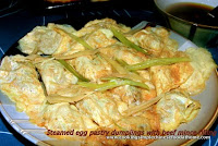 Chinese recipe making egg pastry dumplings at home