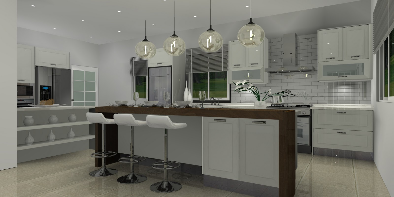 a modern kitchen - Malaysia Interior Design Blog