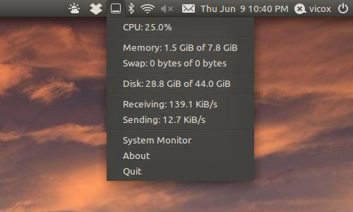 Controla el uso del procesador en Ubuntu, applet ubuntu 14.04 LTS,