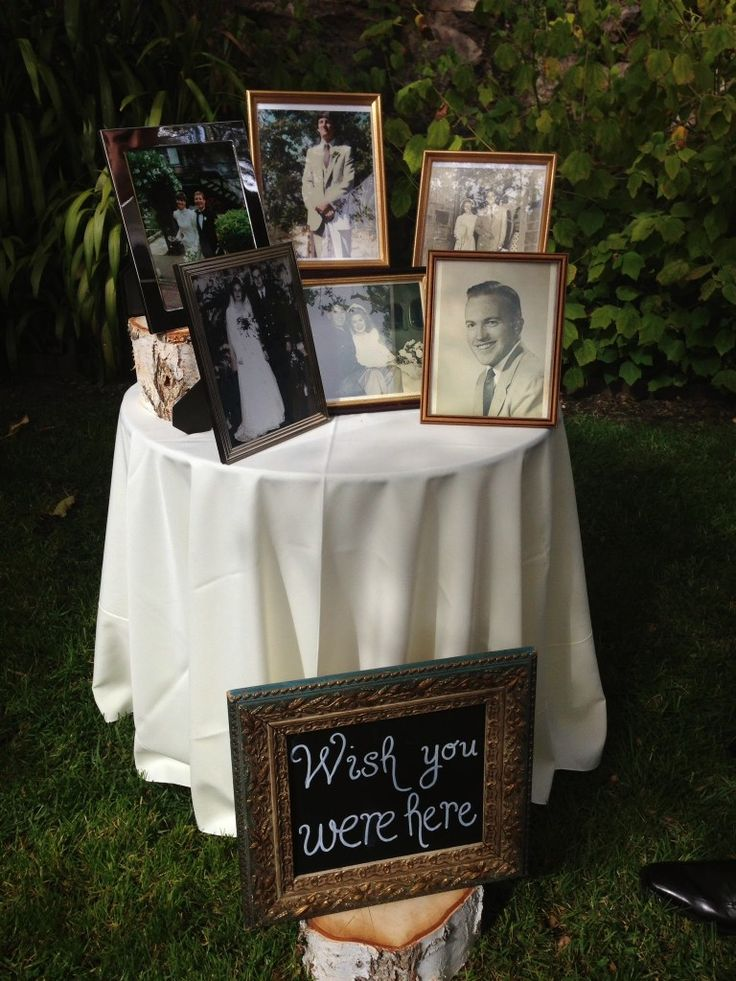 Beautiful Bridal Memorial Wedding Table