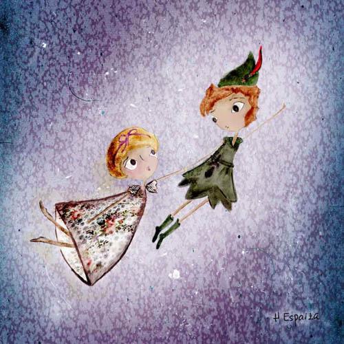 Ilustracion dibujos cuentos peter pan