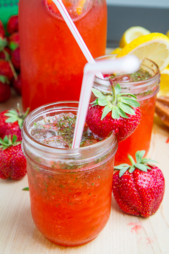 Strawberry Basil Lemonade on Closet Cooking