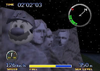 Pilotwings 64, Mount Rushmore, Mario