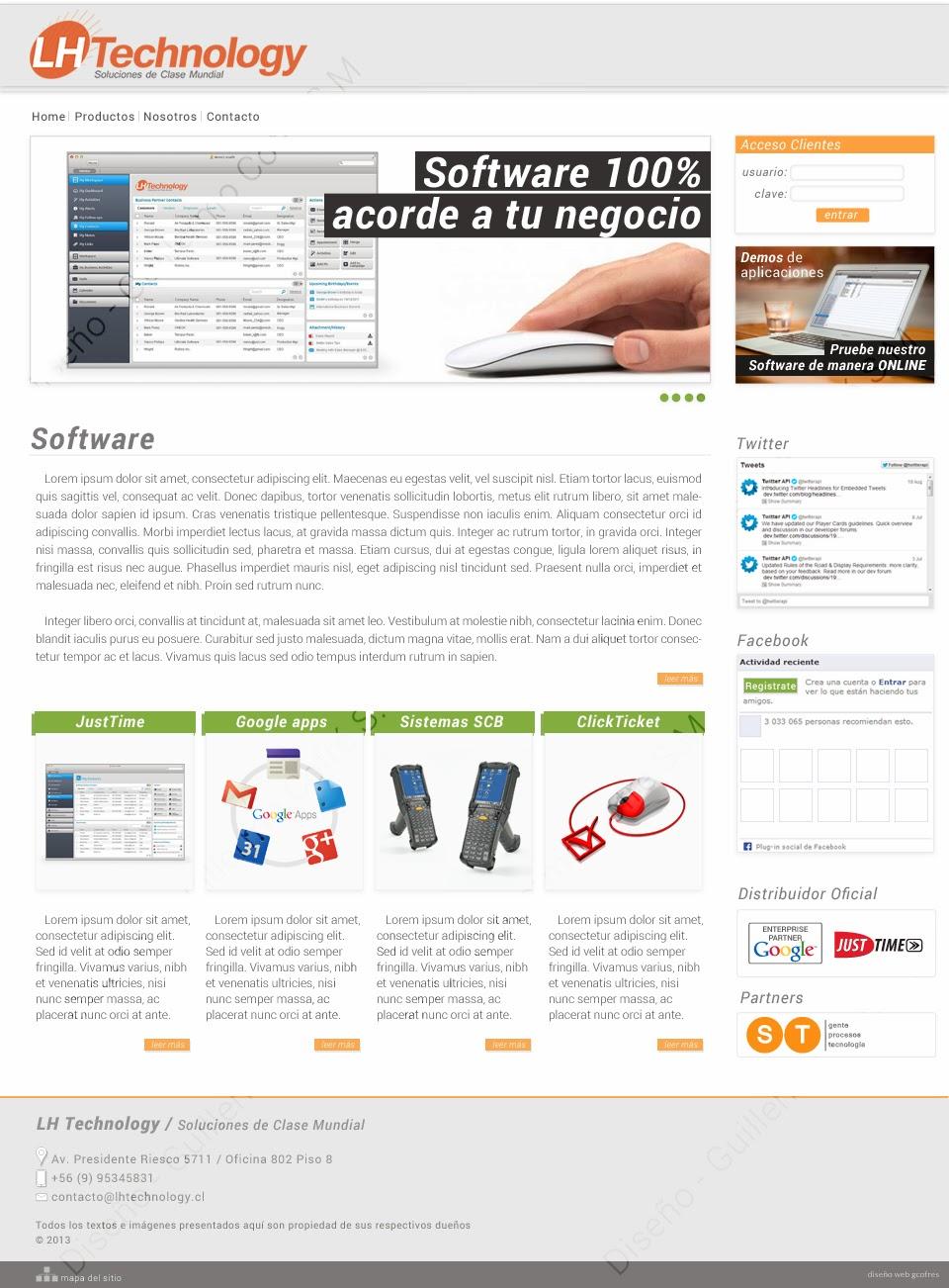 Propuesta de sitio web para LH Technology