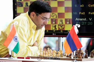 Echecs à Bilbao : Viswanathan Anand (2785) a pris la tête avec 4 points sur 5