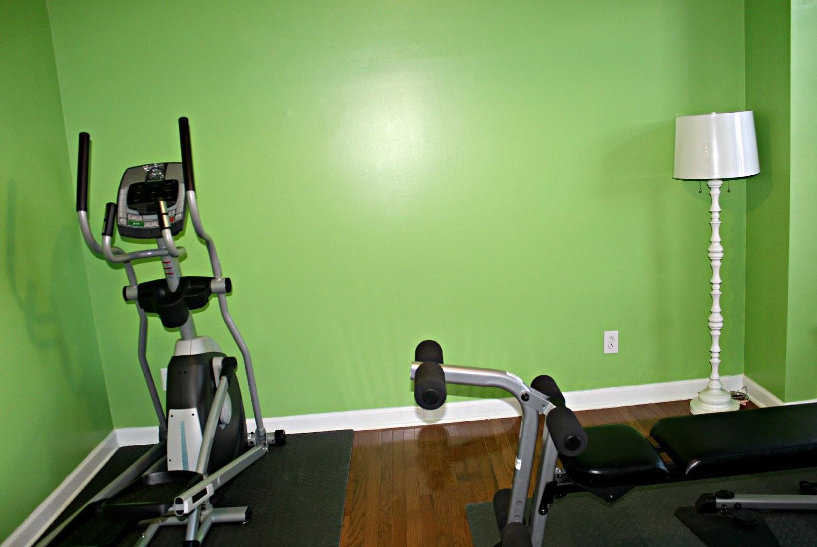 Carolina on my mind home gym green envy