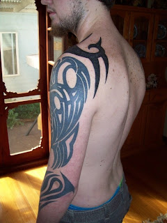 Tribal Arm Tattoo Design For Men