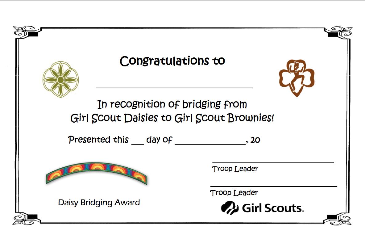 Girl Scout Troop 1138: Bridge to Brownies!