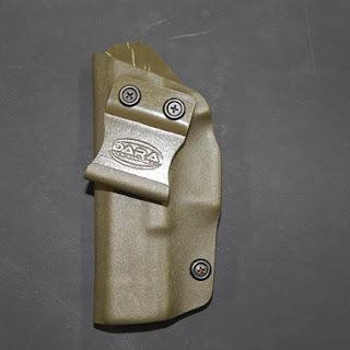 Glock 17 Left Handed IWB Holster, glock 22, glock 31, holster, left handed holster, kydex holster, glock holster, inside the waistband holster