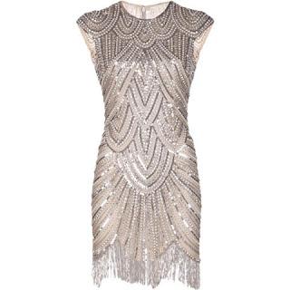vestido franjas