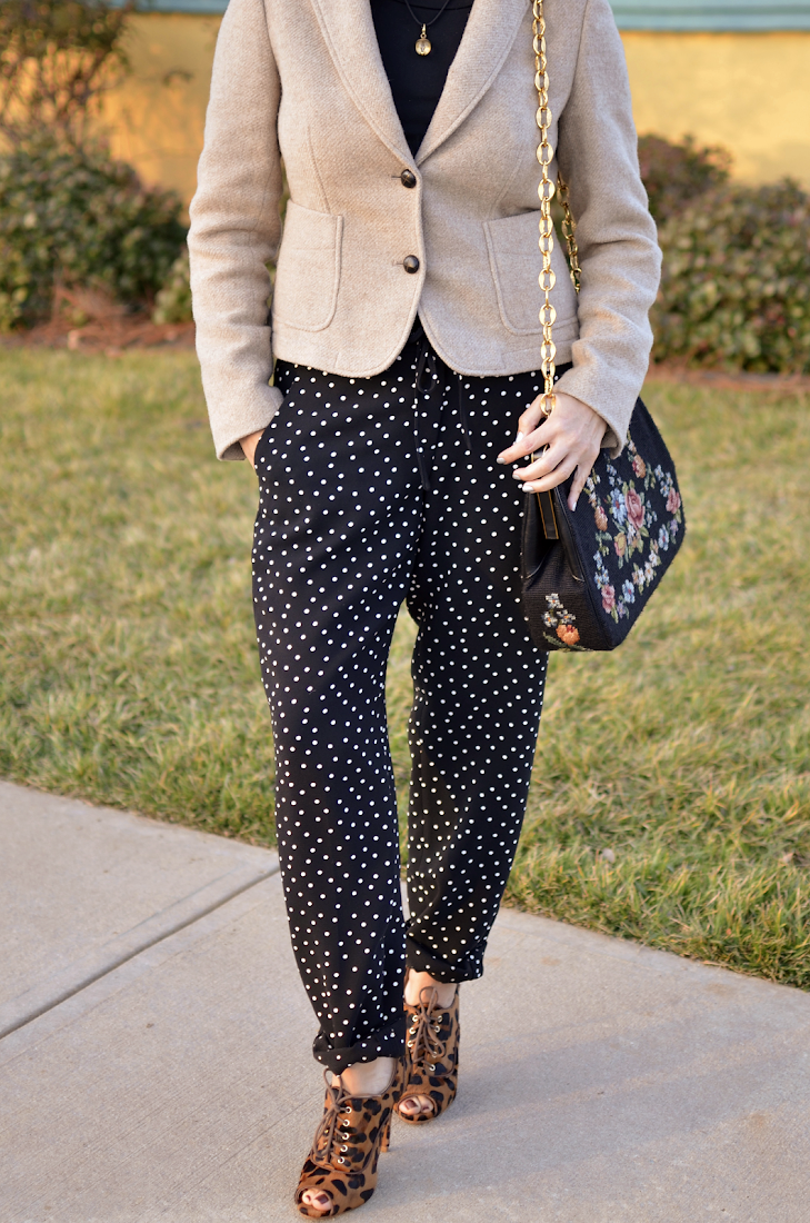 POLKA DOTS PANTS LEOPARD BOOTIES
