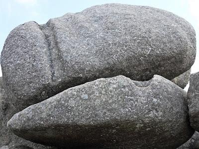 Strange markings on granite boulders Helman Tor
