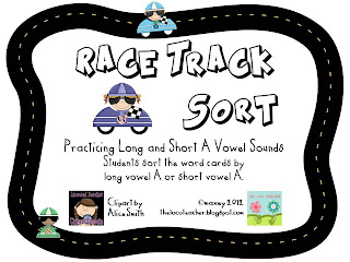 Race Track vowel sort