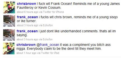 Goes Wrong  Chris Brown Vs  Tyler  The Creator  amp  Frank OceanTyler The Creator And Chris Brown