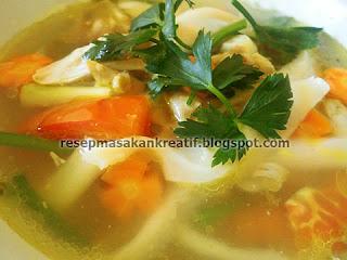 Cara Membuat Sup Jamur Tiram Bening