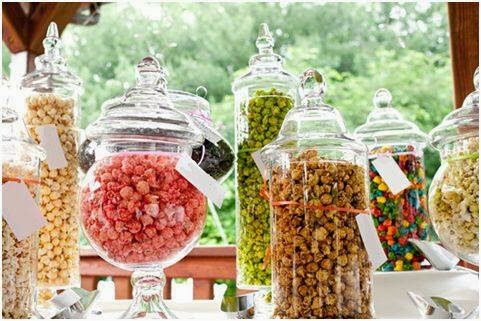 pop corn for desserts table