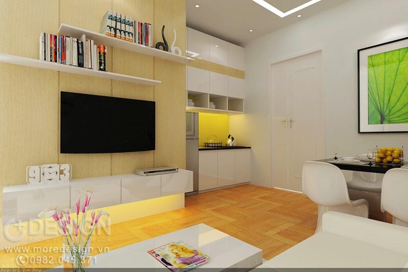 Thiết kế nội thất căn hộ nhỏ 30m2