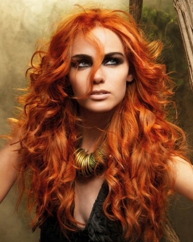 Voluminous Long Red Hair Style 2014